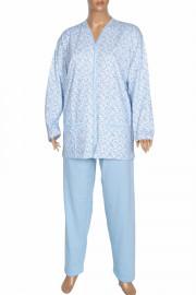 Aydoğan Kadın Şirin Battal Tam Düğmeli Açık Mavi Pijama