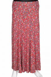 Barem Kadın Arzu Korsajlı Parçalı Desenli Koyu Kırmızı Etek