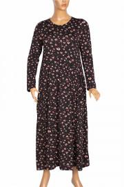 Barem Kadın Funda Bel ve Baseni Büzgülü Siyah2 Elbise