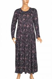 Barem Kadın Funda Bel ve Baseni Büzgülü Siyah5 Elbise