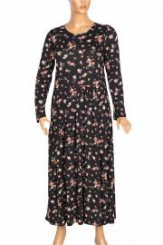 Barem Kadın Funda Bel ve Baseni Büzgülü Siyah6 Elbise