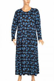 Barem Kadın Funda Boydan Desenli Penye Siyah Elbise