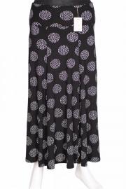 Barem Kadın Korsajlı Parçalı Desenli Siyah Etek