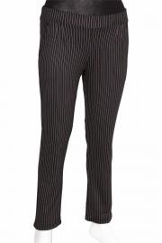 Barem Pensli Dik Çizgili Siyah Pantolon