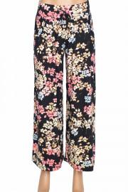 Barem Verda Kadın Desenli Penye Siyah Pantolon Etek