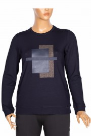 Defrina Kadın Zilan Geo Kombinli Lacivert Bluz