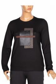 Defrina Kadın Zilan Geo Kombinli Siyah Bluz