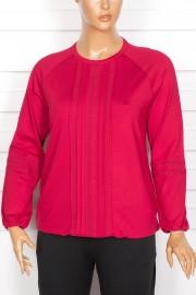 Defrina Önü Dantelli Eteği Lastikli Nar Çiçeği Bluz