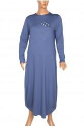 Defrina Yanı Taşlı Spor Çelik Mavi Elbise