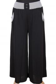 Dule, Firuze Astarlı Siyah Pantolon Etek