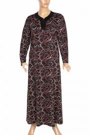 Hesna, Demet Kuplu Boydan Yakası Taşlı Siyah Elbise