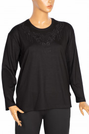 Hesna, Esra B.B. Nakışlı Siyah Bluz