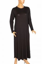 Hesna, İyem Kolu Eteği Zımbalı Spor Siyah Elbise