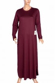 Hesna Kadın Feyza Uzun Spor Bordo Elbise