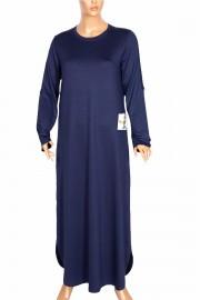 Hesna Kadın Feyza Uzun Spor indigo Elbise