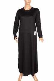 Hesna Kadın Feyza Uzun Spor Siyah Elbise