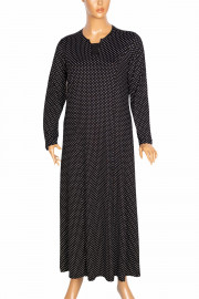 Hesna, Miray Kuplu Puantiye Yakası Modelli Siyah Elbise