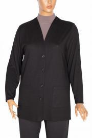 Hesna, Narin Cepli Düğmeli Ceket Siyah