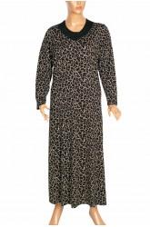 Hesna Serap Kuplu Cam Kırığı Yakası Taşlı Siyah Elbise