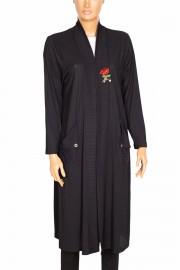 Shine, Asya Gül Broşlu Siyah Ceket