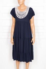 Shine, Efil Dantelli Lacivert Elbise