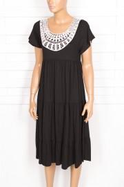Shine, Efil Dantelli Siyah Elbise