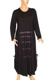Shine, Hevin Yanı Bacıklı Siyah Elbise