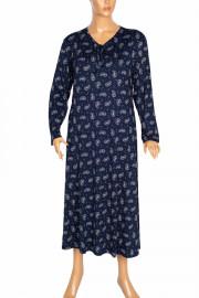 Shine Melek Kadın Büyük Beden Penye Boydan Lacivert Elbise