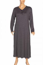 Shine Melek Kadın Büyük Beden Penye Boydan Siyah Elbise