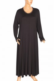 Shine, Tuana Boydan Kuplu Penye Siyah Elbise