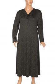 Shine Yaka Büzgü Detaylı Haki Elbise