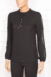 Tripen, Bona Kolu Taşlı Siyah Bluz