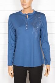 Tripen Patlı Taşlı Spor Mavi Bluz
